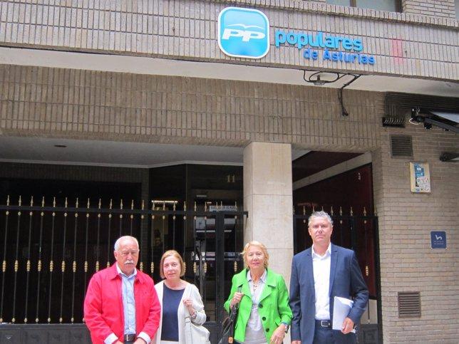 Antonio Flecha, Victoria Cubiella, Elena González y Juan Carlos Santos. PP