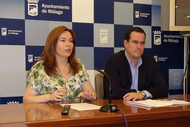 María del Mar Martín rojo durante la rueda de prensa del proyecto Promálaga