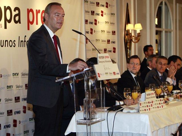 Fabra interviene en los desayunos de Europa Press, en imagen de archivo.