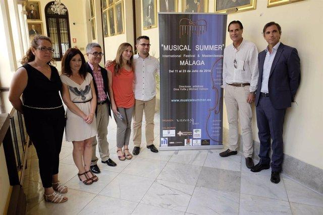 Presentación del 'Musical summer' en el Ayuntamiento de Málaga