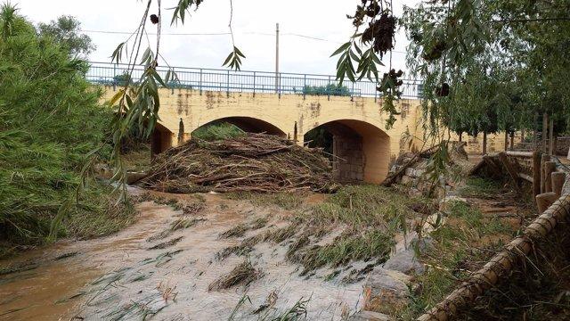 Daños causados por las lluvias en Magallón