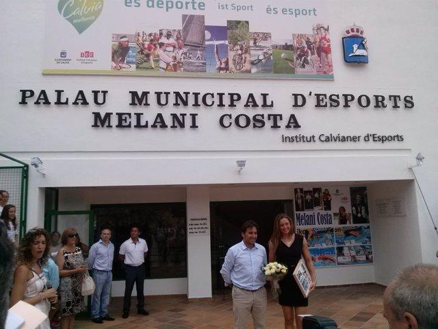 Melani Costa en el Palau dÉsports de Calvià que llevará su nombre