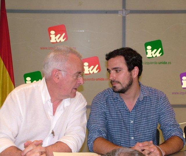Cayo Lara y  Alberto Garzón