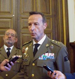 El general Gorjón Recio, jefe de la cuarta Subinspección del Ejército