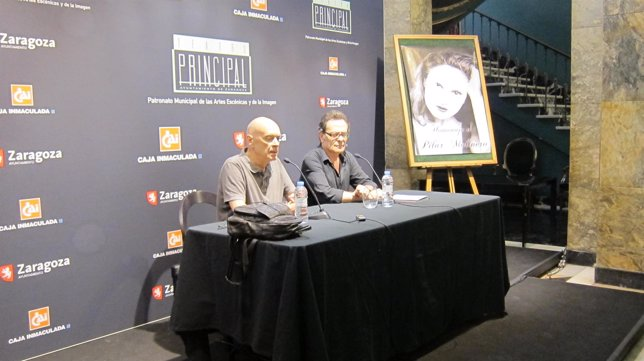 Rafael Campos y Santiago Meléndez en la presentación del acto