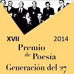 Cartel de presentación  Premio de Poesía Generación del 27 2014