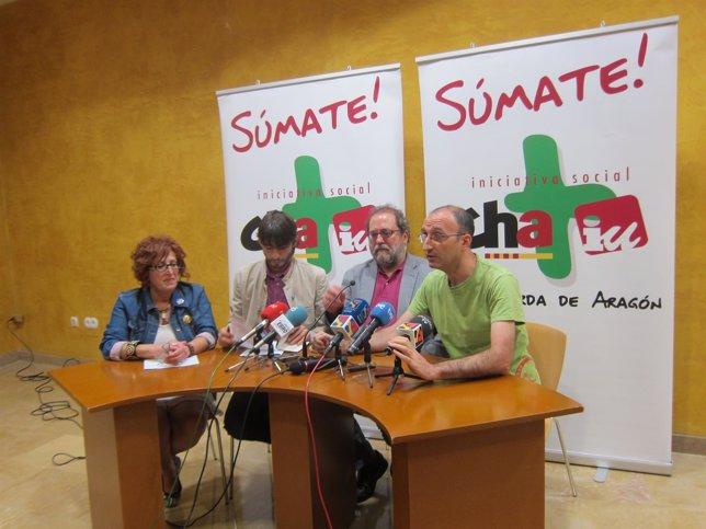 Maribel Martínez, Álvaro Sanz, Chesús Yuste y Paco Iturbe.