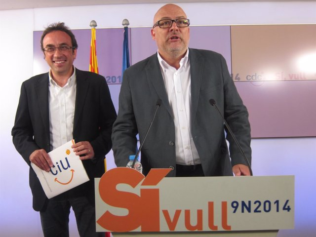 Josep Rull y Lluís Corominas, CDC