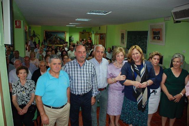Visita de Ángeles Jiménez en el Centro de Participación Activa de Jamilena