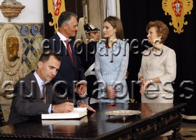 Los Reyes, esta mañana en su visita oficial a Portugal