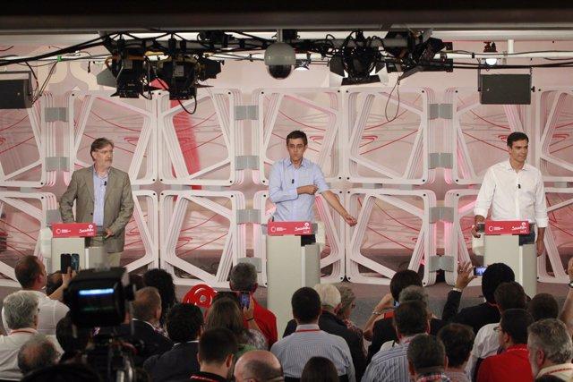 Debate entre los candidatos a la Secretaría General del PSOE
