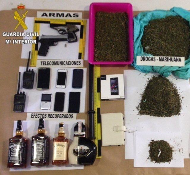 Material confiscado en la operación 'Orcos'