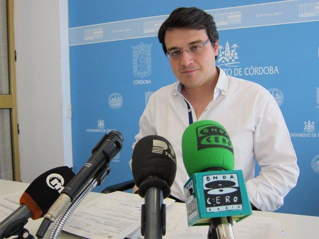 El teniente alcalde de Hacienda del Ayuntamiento de Córdoba, José María Bellido