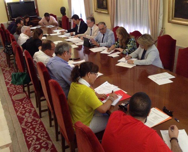 Comisión de flujos migratorios en la Subdelegación del Gobierno en Huelva.