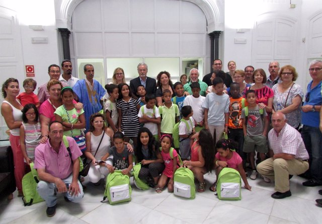 Presentación de niños saharauis