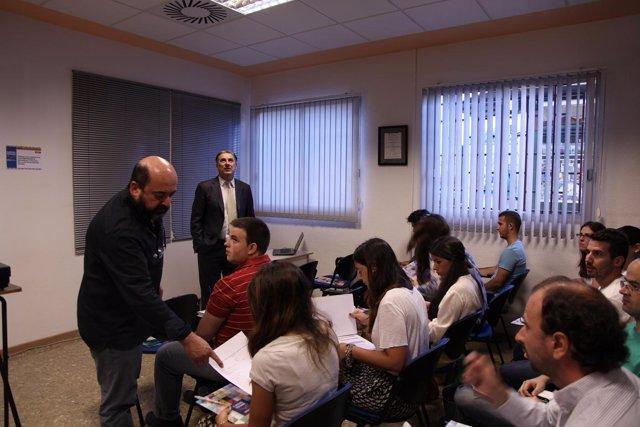 Manuel Torres y Fernando López, durante el curso