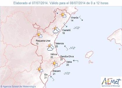 El interior norte de Castellón está en alerta amarilla por vientos