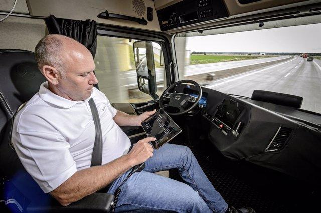 Camión con conducción autónoma de Mercedes-Benz