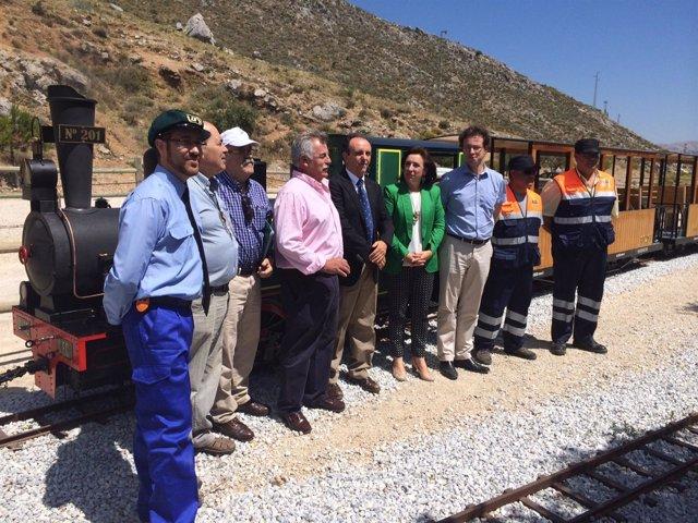 Inauguración tren turístico Ventas de Zafarraya