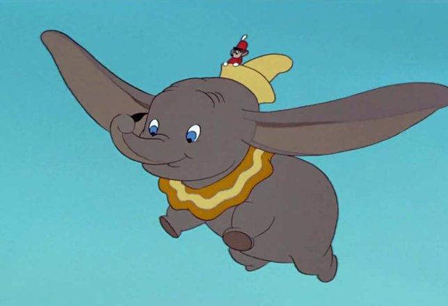 Dumbo en la película de Disney