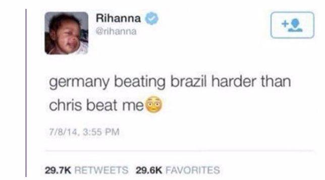 Rihanna sobre Alemania - Brasil