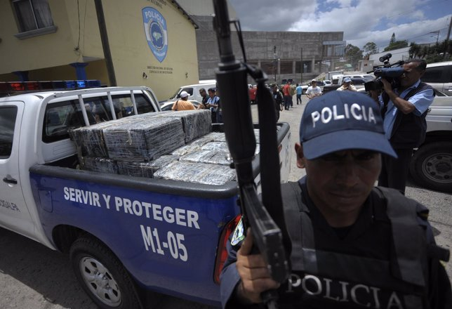 Agente de la Policía de Honduras.