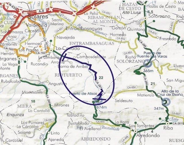 Mapa de la prueba