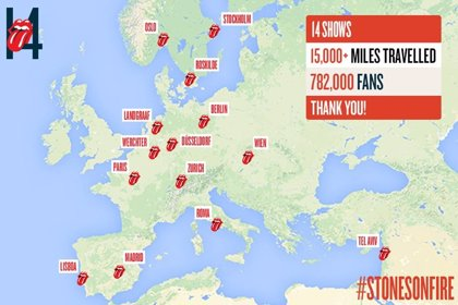 782.000 personas han asistido a los conciertos de la gira europea de los Rolling Stones