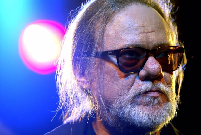 Tommy Ramone of former U.S. Punk band 'The Ramones' addresses the media in Berli