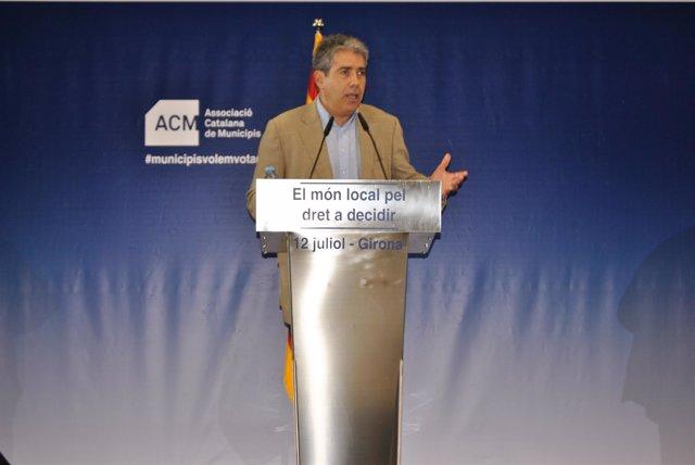 El conseller Francesc Homs este sábado en Girona