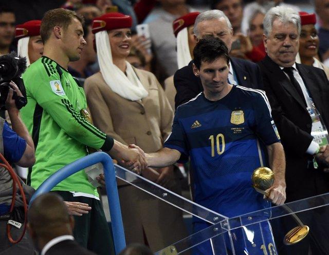 Messi, 'Balón de Oro' del Mundial de Brasil 2014