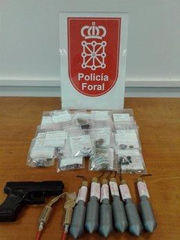 La Policía Foral realiza 70 incautaciones de droga en Lesaka.
