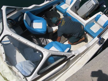 Interceptada en Ceuta una fueraborda con 428 kilos de hachís