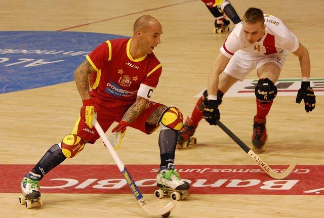 El jugador español de hockey Pedro Gil