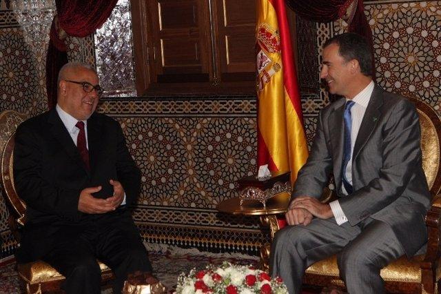 Felipe VI y Abdelilá Benkirane