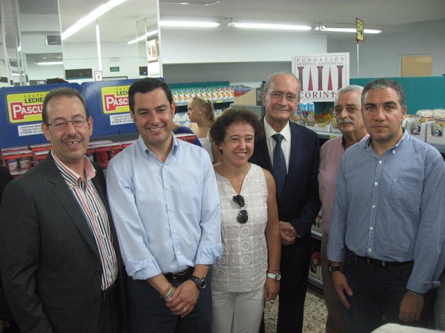 El presidente del PP de andalucía, Juanma Moreno, en la Fundación Corinto