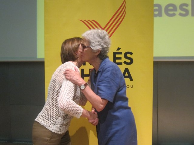 Carme Forcadell (ANC) y Muriel Casals (Òmnium)