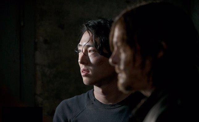 Daryl y Glenn en la 5ª temporada de TWD