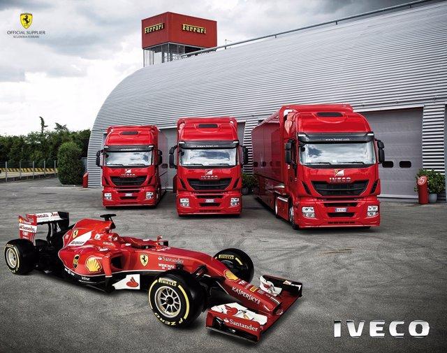 Camiones Iveco para la Scuderia Ferrari