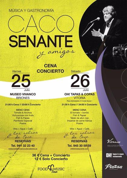 El cantautor Caco Senante actuará en Vivanco el próximo 25 de julio