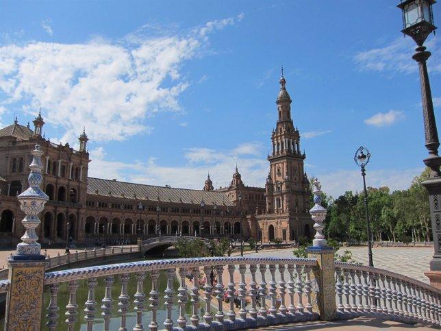 Imagen de la Plaza de España de Sevilla