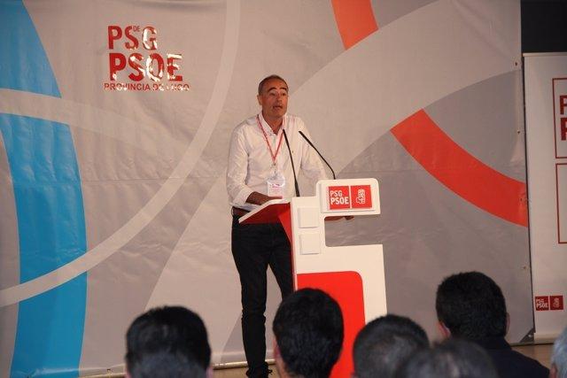 El secretario provincial del PSOE en Lugo, Juan Carlos Gómez Santín