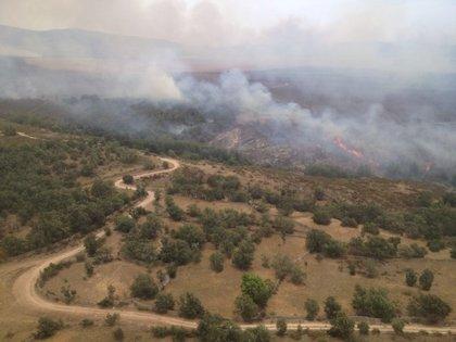 Cospedal se dirige a Guadalajara para conocer las labores de extinción de los fuegos de Cogolludo y Bustares
