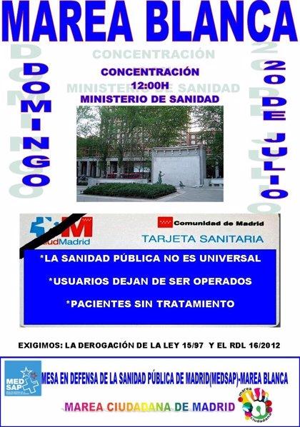 """La 'Marea Blanca' protesta contra la """"descapitalización"""" de la Sanidad"""