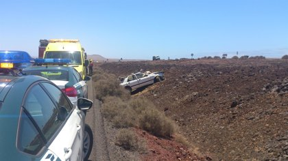 Tres personas resultan heridas en una colisión en Yaiza (Lanzarote)