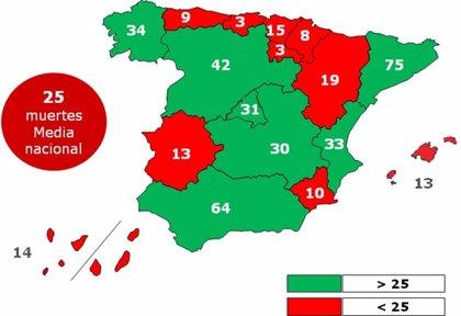 Sistemas de seguridad avanzados evitarían el 28% de los accidentes de tráfico en Asturias
