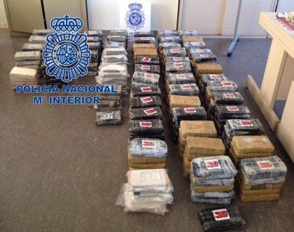 La Policía Nacional interviene en Segovia 350 kilos de cocaína ocultos en un tráiler con un cargamento de patatas