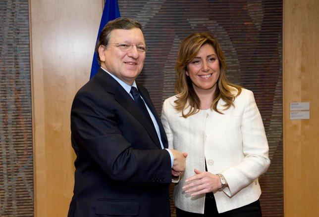 Durao Barroso y Susana Díaz
