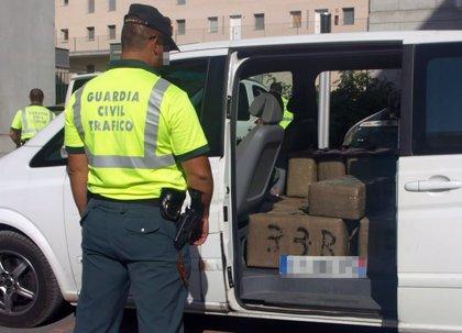 Interceptan una furgoneta con más de 600 kilos de hachís