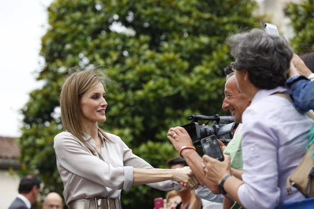 Letizia, regresa a su querida Asturias como Reina curso verano musica sandalia